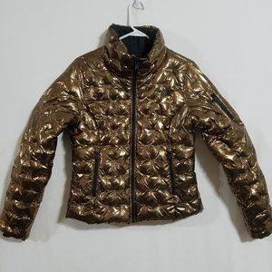 North Face Womens Medium Gold Puffer Winter Jacket